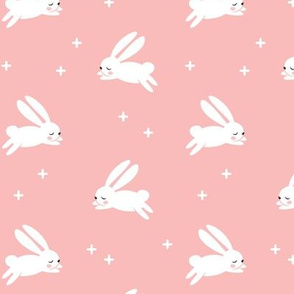 bunnies on pink