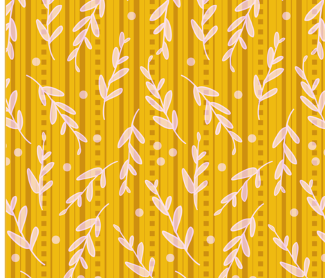 Curry Leaf Stripe fabric by sarah_nussbaumer on Spoonflower - custom fabric