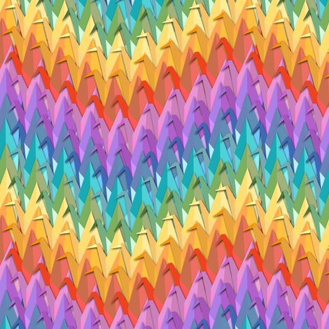 Paper Crane Rainbow Chevron fabric by eclectic_house on Spoonflower - custom fabric