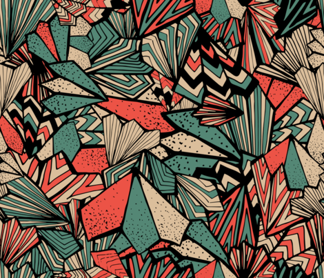 Paperfolds_Vintage Candy fabric by one4seven on Spoonflower - custom fabric