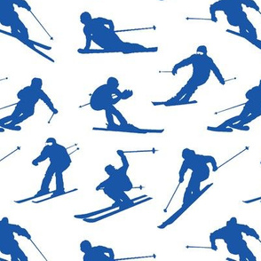 Blue Skiers // Small