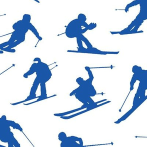 Blue Skiers // Large