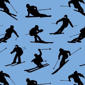 Skiers on Ice Blue // Small