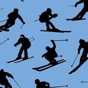 Skiers on Ice Blue // Large