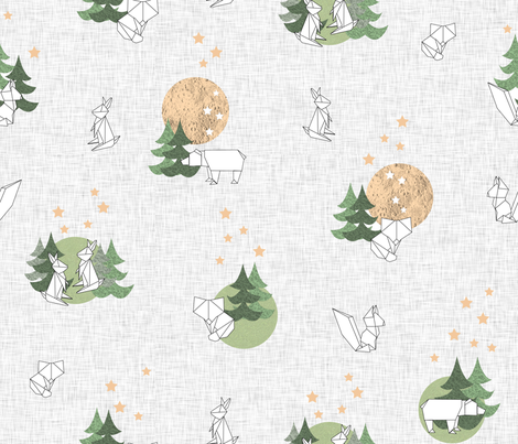 Origaminature fabric by les_motifs_de_sarah on Spoonflower - custom fabric
