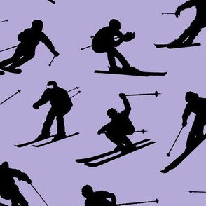 Skiers on Lavender // Large