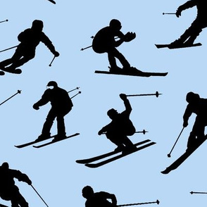 Skiers on Blue // Large