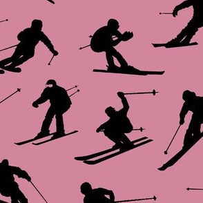 Skiers on Mauve // Large