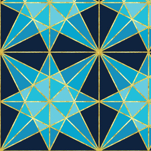 origami fold diamond with gold-01