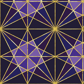 origami fold amethyst with gold-01