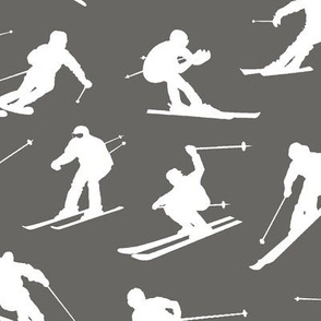 Skiers on Slate // Large
