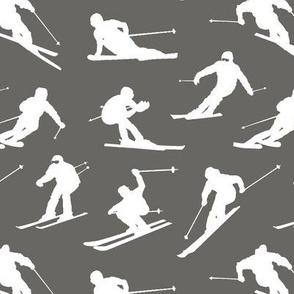 Skiers on Slate // Small