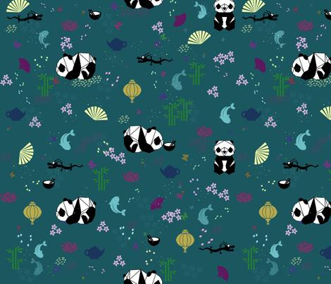CUADRICULAPANDA fabric by nonapapallona on Spoonflower - custom fabric