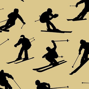 Skiers on Tan // Large