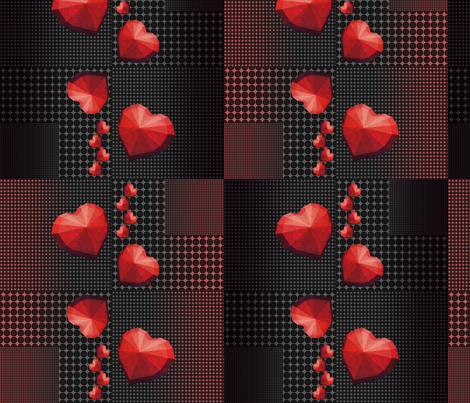 Origami hearts fabric by snarets on Spoonflower - custom fabric