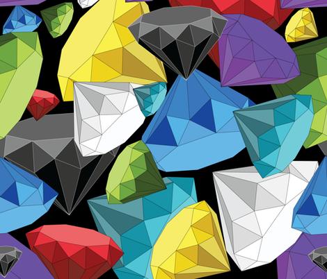 Origami Diamonds fabric by stargazingseamstress on Spoonflower - custom fabric