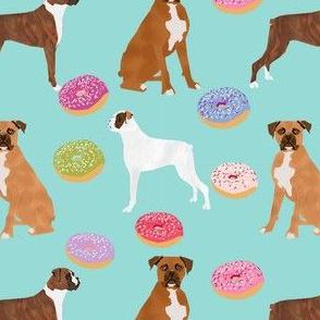 boxer donuts mixed coats dog breed doughnuts fabric lite