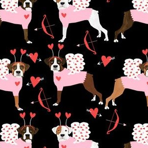 boxer love bug cupid costume dog breed fabric black