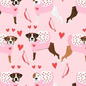 boxer love bug cupid costume dog breed fabric pink