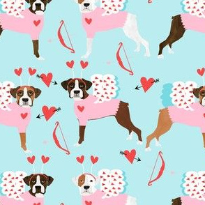 boxer love bug cupid costume dog breed fabric blue