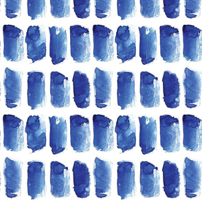 Blue brush strokes and abstract tapes