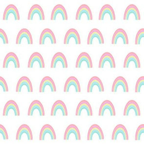 rainbow fabric - rainbow, pastel, girls, pink, sweet baby rainbows
