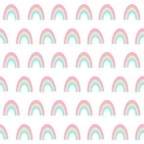 rainbow fabric - rainbow, pastel, girls, pink, sweet baby rainbows