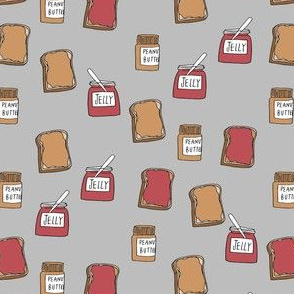 peanut butter and jelly fabric // pbj food snack food kids food cute design (smaller)
