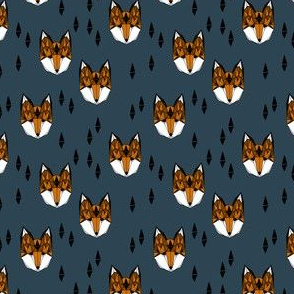 fox head fabric // boys geometric fox head design baby nursery foxes (smaller)