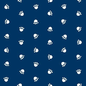 paws -  dog paws navy blue coordinate - paw print dogs