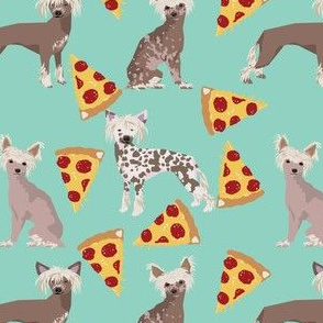 chinese crested dog pizza funny cute pink dog dogs sweet hairless dog fabric mint
