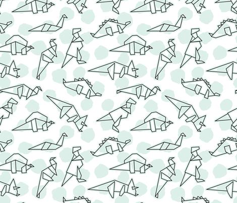Paper Dinos fabric by vintageblushdesign on Spoonflower - custom fabric