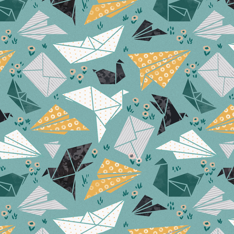 good mood origami fabric by daria_nokso on Spoonflower - custom fabric