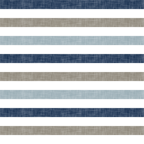 stripes - rustic woods linen stripes C18BS fabric by littlearrowdesign on Spoonflower - custom fabric