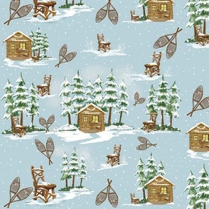 winter Country cabin