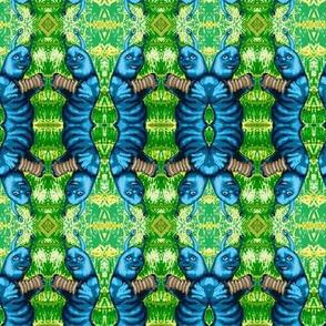 Caterpillar Polka Damask