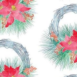 Pointsetta Wreath Color