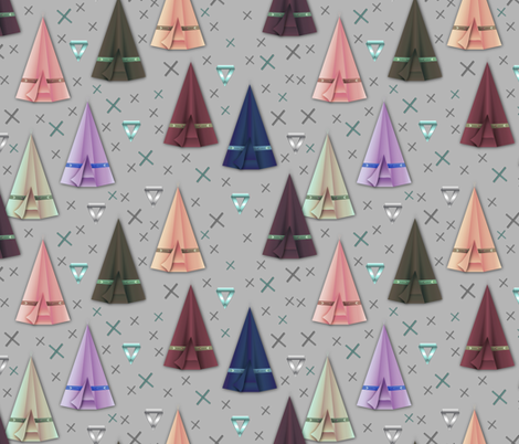 Origami tipi's fabric by everhigh on Spoonflower - custom fabric