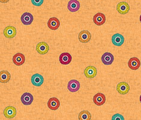 merkez apricot fabric by scrummy on Spoonflower - custom fabric