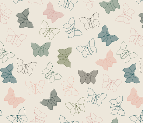 Origami Butterfly fabric by mintedtulip on Spoonflower - custom fabric
