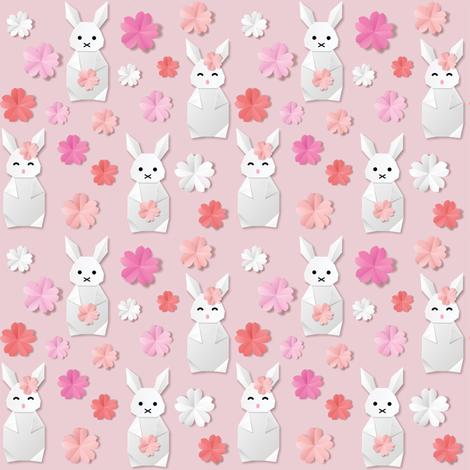 Rabbit Origami fabric by svetlana_prikhnenko on Spoonflower - custom fabric
