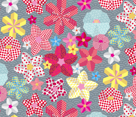 paper-flowers fabric by lisahilda on Spoonflower - custom fabric