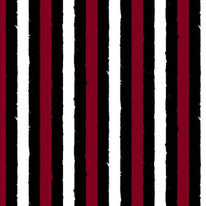 distress stripe 3 color black burgundy white