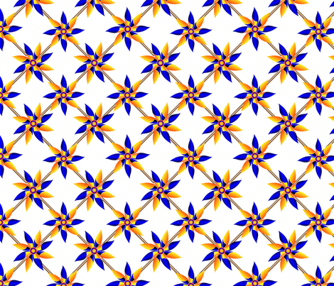 Pinwheel Origami - Repeat Square fabric by zestfully_me on Spoonflower - custom fabric