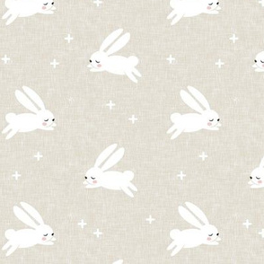 bunnies on tan