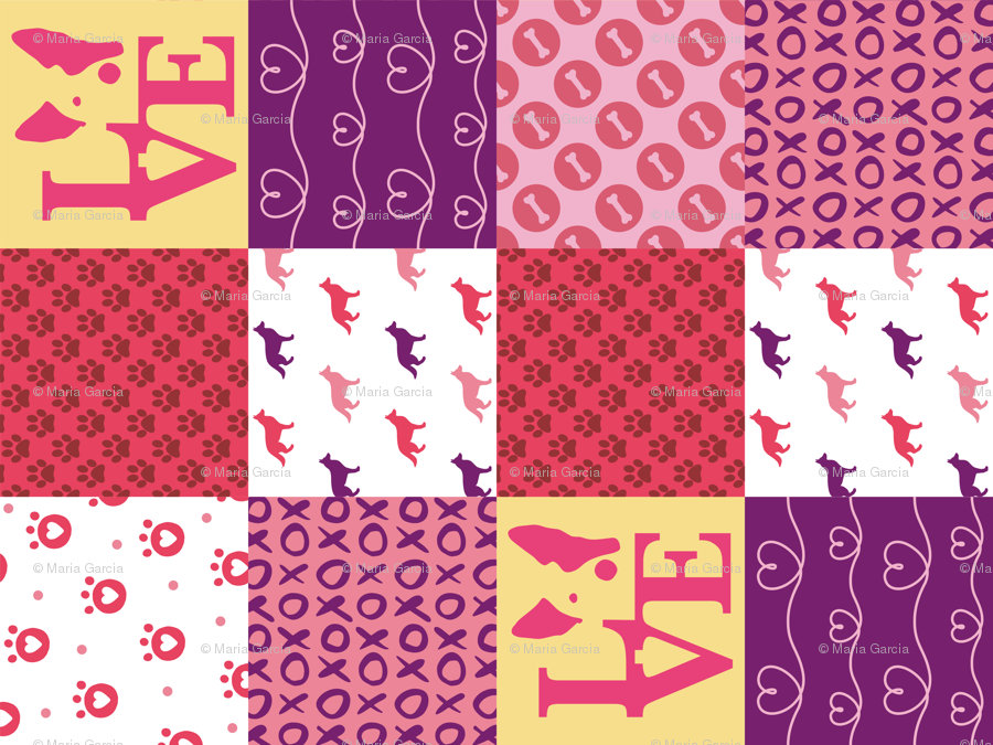 Cheater Quilt German Shepherd Pink Wallpaper Mariafaithgarcia