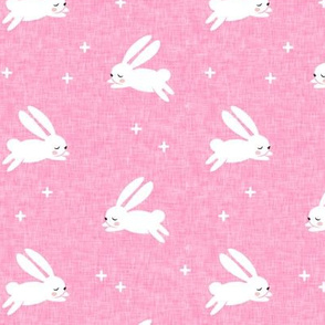 bunnies on dark pink