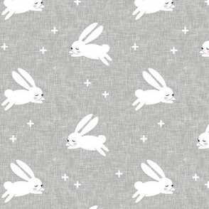 bunnies on grey