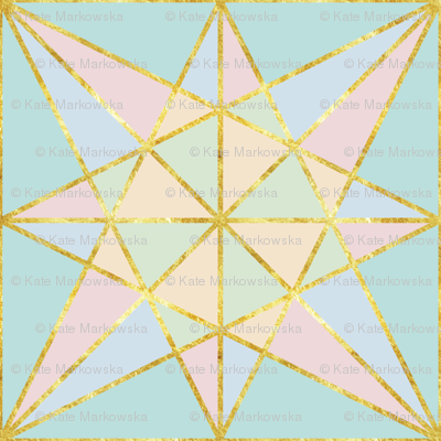 origami fold pastel with gold large-01