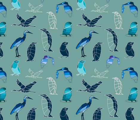 free as a bird fabric by snailsandroses on Spoonflower - custom fabric